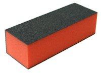 Leštící blok na nehty třístranný červený středně jemný 100/180/180 | Leštičky, leštící bloky a pilníky na nehty pro nehtovou modeláž a manikúru - Leštičky a leštící bloky na nehty pro nehtovou modeláž a manikúru