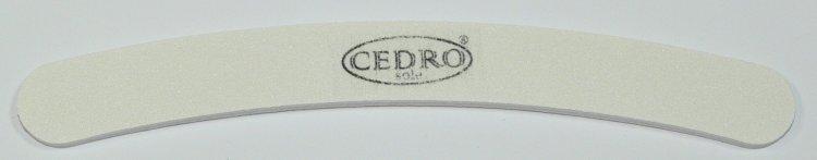 Pilník na nehty 100/120 bílý zahnutý Cedro | Leštičky, leštící bloky a pilníky na nehty pro nehtovou modeláž a manikúru - Pilníky na nehty pro nehtovou modeláž a manikúru - zahnuté a rovné široké