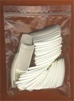 Nehtové tipy na francouzskou manikúru SÁČEK 50 ks  vel.4 | NEHTOVÁ MODELÁŽ - Nehtové tipy pro nehtovou modeláž - Nehtové tipy pro doplnění na francii - Cedro