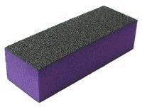Leštící blok na nehty třístranný fialový hrubý 60/60/100 | Leštičky, leštící bloky a pilníky na nehty pro nehtovou modeláž a manikúru - Leštičky a leštící bloky na nehty pro nehtovou modeláž a manikúru