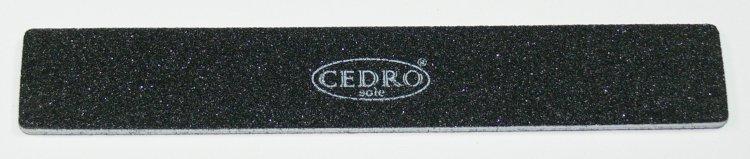 Pilník na nehty 80/80 černý Jumbo Cedro | NEHTOVÁ MODELÁŽ - Leštičky, leštící bloky a pilníky na nehty pro nehtovou modeláž a manikúru - Pilníky na nehty pro nehtovou modeláž a manikúru - zahnuté a rovné široké
