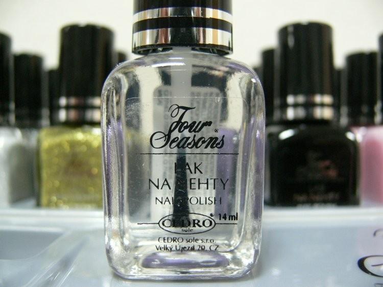 Four Seasons Lak na nehty FS odstín 19 bezbarvý průhledný lak 14 ml | Laky na nehty - Laky na nehty Cedro - Four Seasons