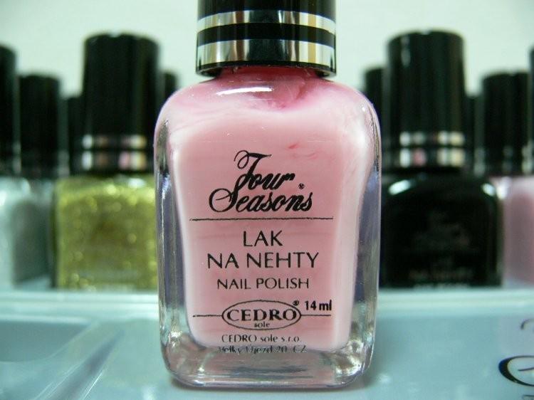 Four Seasons Lak na nehty FS odstín 20 průsvitný lak vhodný pro Francouzskou manikúru 14 ml | NEHTOVÁ MODELÁŽ - Laky na nehty - Laky na nehty Cedro - Four Seasons
