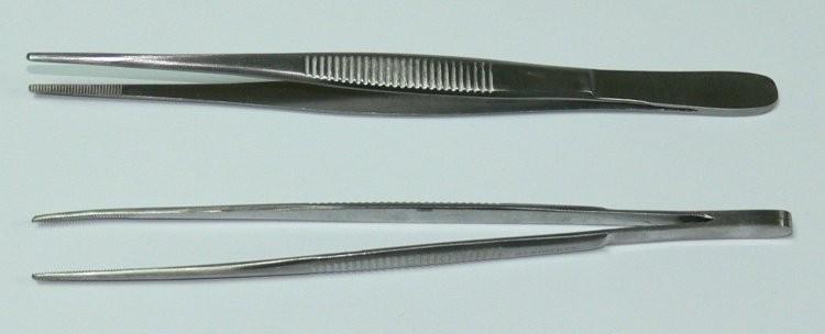 Pinzeta anatomická jemná 13 cm | NEHTOVÁ MODELÁŽ - Chirurgické nástroje, pinzety - Pinzety anatomické