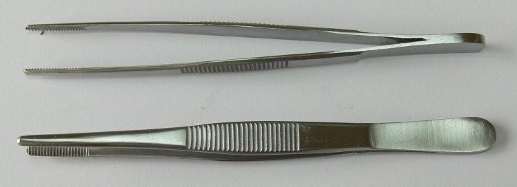 Pinzeta anatomická 15 cm | NEHTOVÁ MODELÁŽ - Chirurgické nástroje, pinzety - Pinzety anatomické