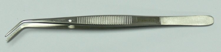 Pinzeta zubní lomená 16 cm | NEHTOVÁ MODELÁŽ - Chirurgické nástroje, pinzety - Pinzety anatomické