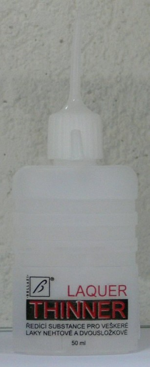 Ředidlo laků Thinner  50 ml | NEHTOVÁ MODELÁŽ - Laky na nehty - Sušiče laku a příslušenství
