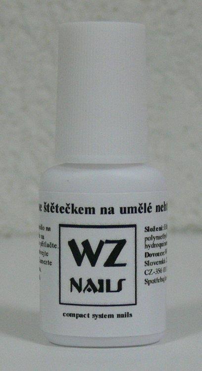Lepidlo se štětečkem na umělé nehty 7,5 g | Nehtové tipy pro nehtovou modeláž - Příslušenství k tipům