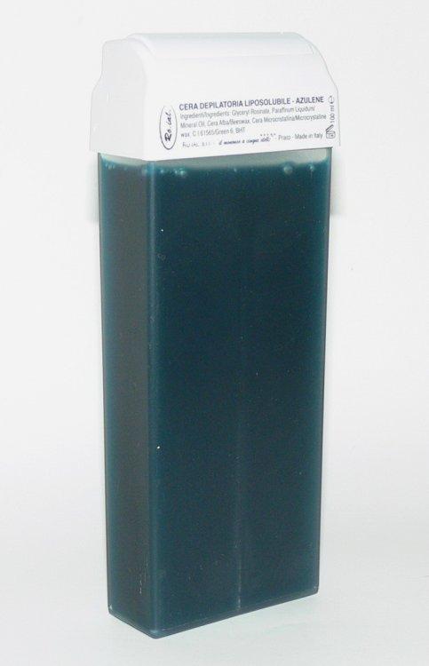 Roial Depilační vosk azulénový s hlavicí na tělo 100 ml  | NEHTOVÁ MODELÁŽ - Přípravky na depilaci - Depilační vosky