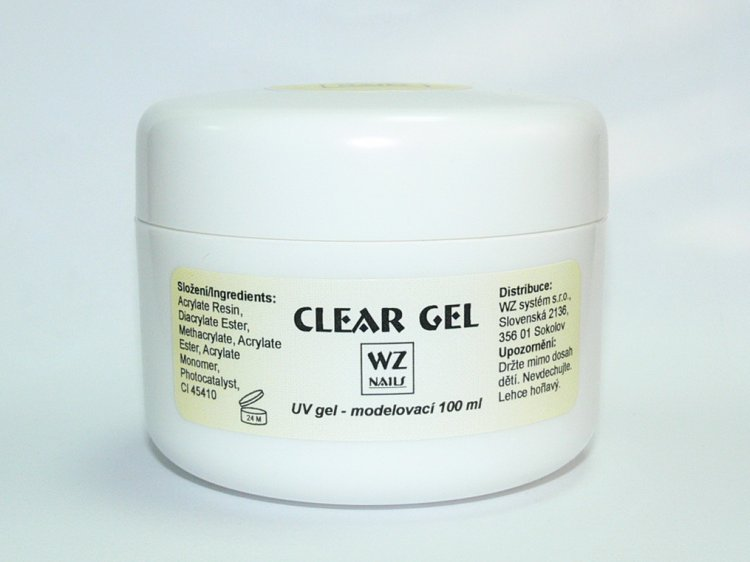 UV gel modelovací čirý Clear gel 100 ml | UV gely - UV gely WZ NAILS