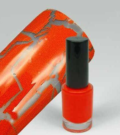 WZ nails Cracle Polish - praskající lak crazy orange 5 ml | Laky na nehty - Praskající laky na nehty