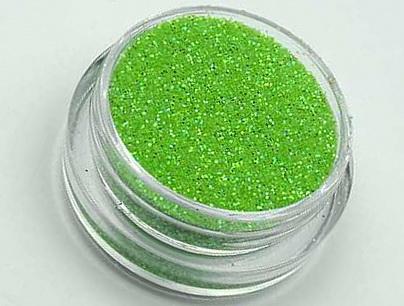 Glitterový prášek na zdobení nehtů světle zelený | NEHTOVÁ MODELÁŽ - Nail Art, zdobící materiály - Glitter na zdobení nehtů