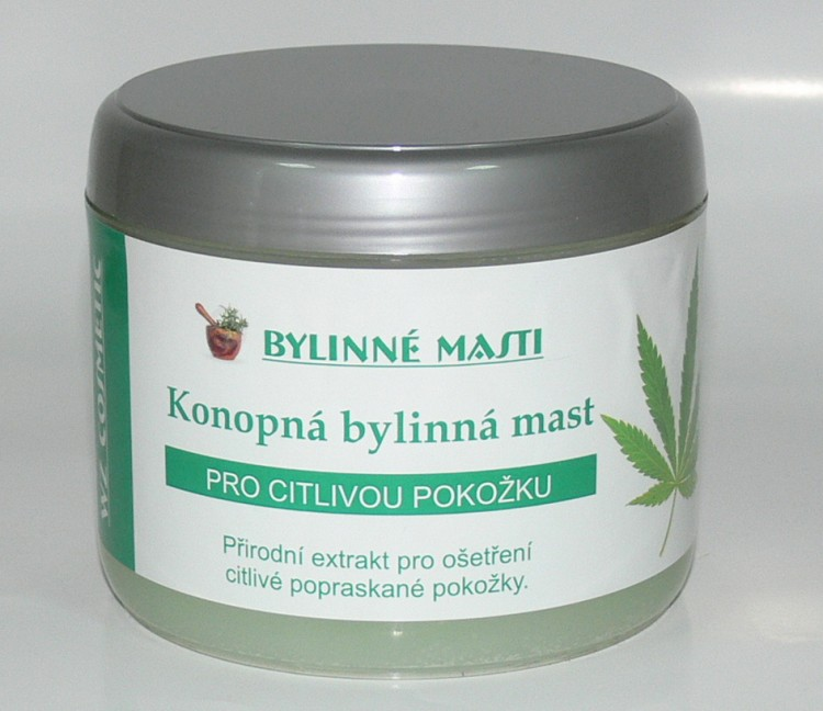 Bylinná mast s konopným olejem 500 ml | NEHTOVÁ MODELÁŽ - Kosmetika WZ cosmetic - Bylinné masti a vazelíny