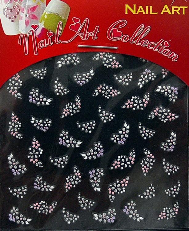 Samolepící nálepky na nehty - motýlci a květy S3DW10 | Zdobící nálepky a obtisky na nehty - Zdobící nálepky na nehty 3D motýlci - samolepící