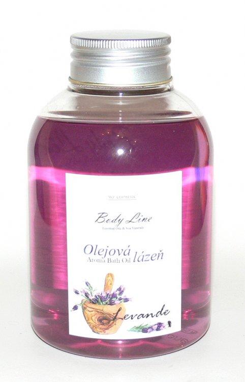 Olejová lázeň s vůní levandule Levande 500 ml | NEHTOVÁ MODELÁŽ - Kosmetika WZ cosmetic - Koupelové soli a olejové lázně