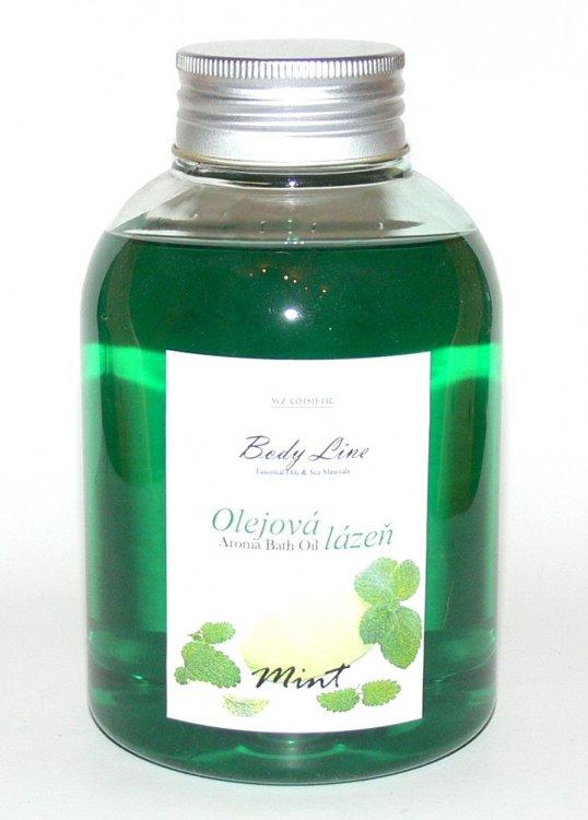 Olejová lázeň s vůní máty Mint a Eukalypt 500 ml | Kosmetika WZ cosmetic - Koupelové soli a olejové lázně