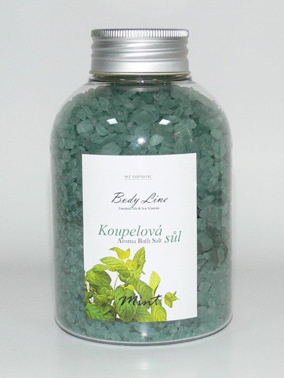 Koupelová sůl vůní máty Mint a Eukalypt 600 g | NEHTOVÁ MODELÁŽ - Kosmetika WZ cosmetic - Koupelové soli a olejové lázně